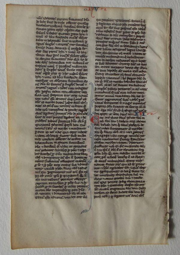 13th C. French Biblical Leaf