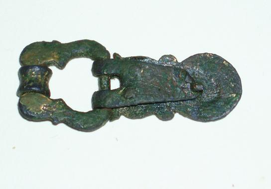 14th C. Bronze/Gilt Buckle and Plate