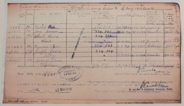 1914 Star Trio North'd Fus. W.I.A.