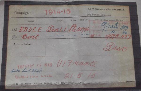 1914/15 Star Trio D.L.I. W.I.A.