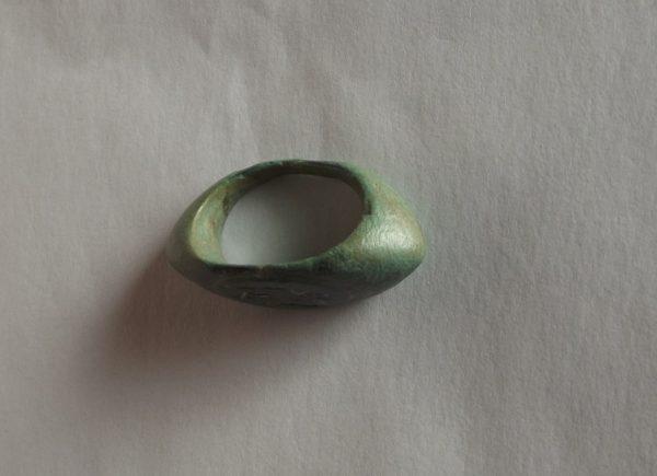 1st C. Bronze Ring Winged God