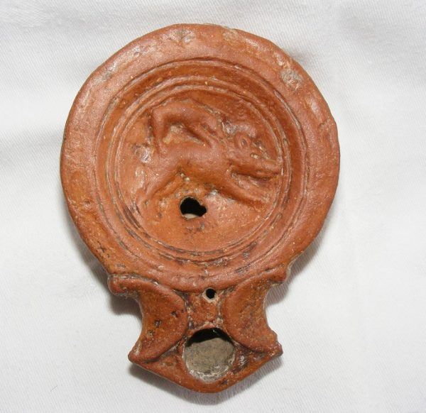 1st C. Volute Lamp Boar