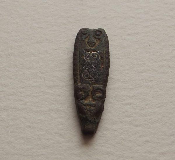 9th C. Anglo-Saxon Bronze Strapend