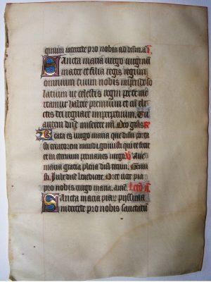 Illuminated Leaf Book of Hours