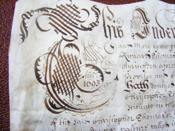 Indenture Reign William and Mary 1693