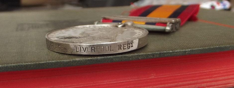 QSA 2 Clasps Liverpool Regt. SOLD