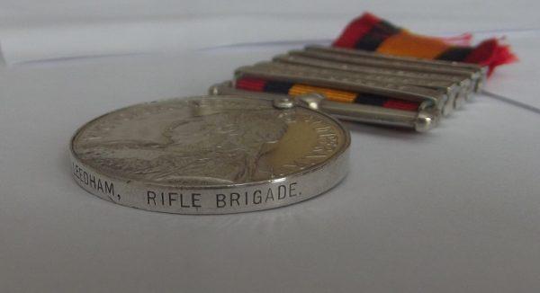 QSA 5 Clasps Rifle Brigade
