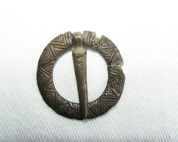 Silver Gilt Circular Brooch