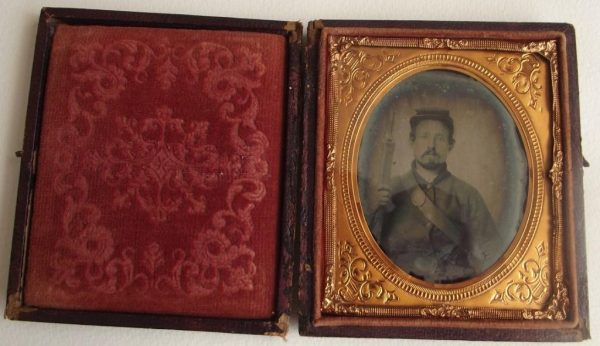 Ruby Ambrotype Armed Fed.