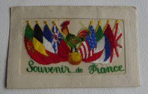 WWI Silk French Cockerel