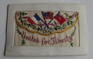 WWI Silk United For Liberty