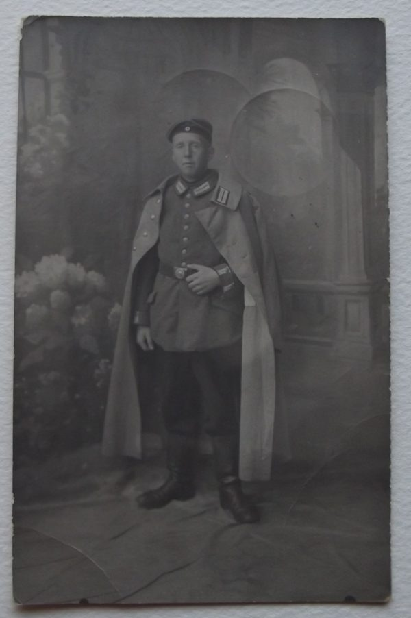 WWI Studio Portrait in Great Coat