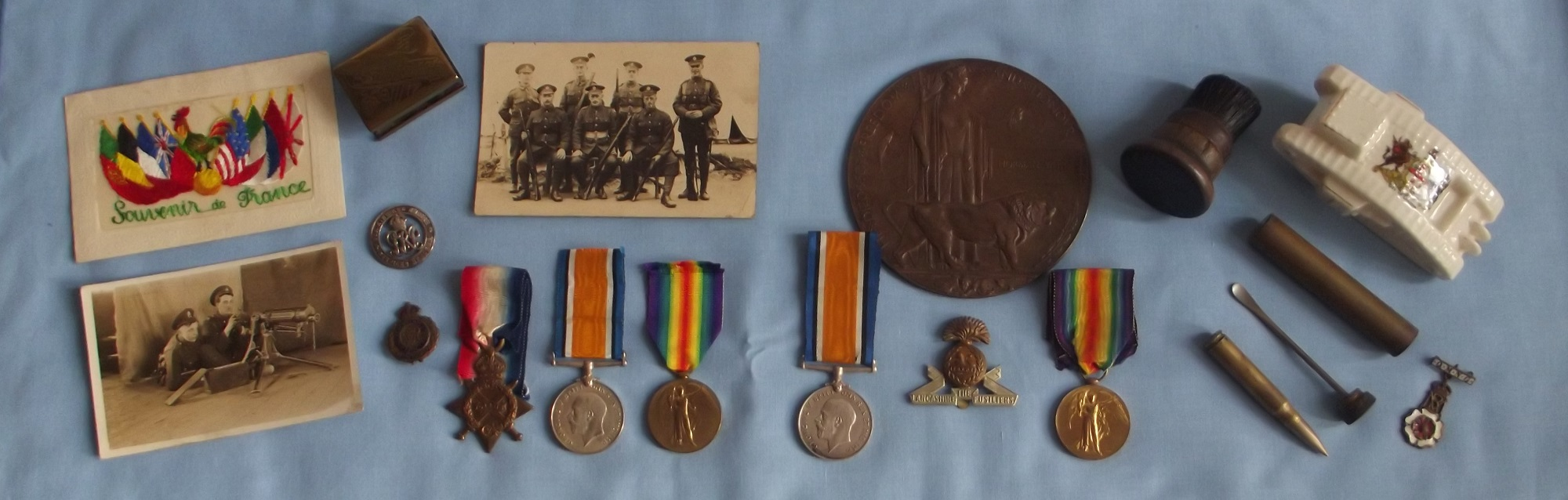 WWI Medals and Post Cards